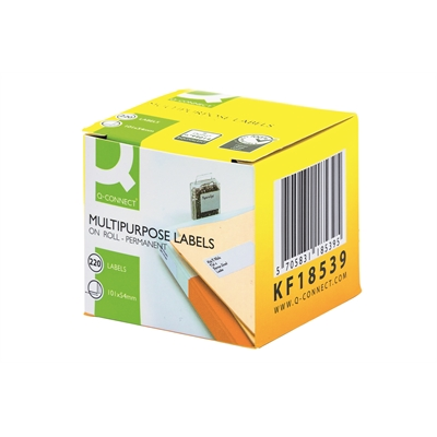 Tarra Q-Connect LW 54x101mm saate /220 - monitoimitarra Dymo LabelWriter tarratulostimiin