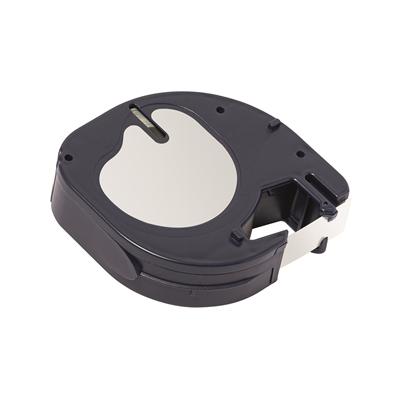 Teippi Q-Connect LT91201 12mm valk/musta - Dymo Letratag tarratulostimiin