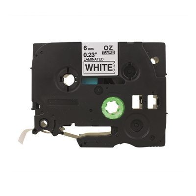 Tarrakasetti Q-Connect TZe211 6mm val/musta - vaihtoehtoinen tuote Brother TZe-tarrakasetille