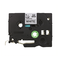 Tarrakasetti Q-Connect TZe221 9mm val/musta - vaihtoehtoinen tuote Brother TZe-tarrakasetille
