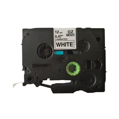 Tarrakasetti Q-Connect TZe231 12mm val/musta - vaihtoehtoinen tuote Brother TZe-tarrakasetille