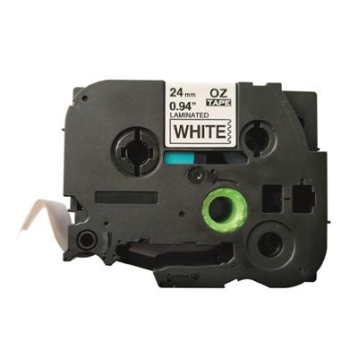 Tarrakasetti Q-Connect TZe251 24mm val/musta - vaihtoehtoinen tuote Brother TZe-tarrakasetille
