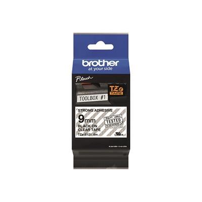 Tarrakasetti Brother TZeS121 9mm kirkas/musta