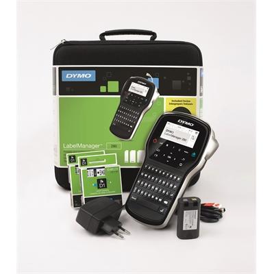 Tarrakirjoitin Dymo LabelManager 280 Kit Case Qwerty - kantosalkku ja ladattava akku