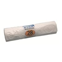 Jätepussi 28l valkoinen/50