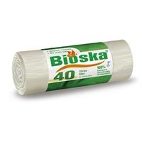 Jätepussi Bioska 40 l/30 - 100 % biohajoava ja tuulivoimalla tuotettu