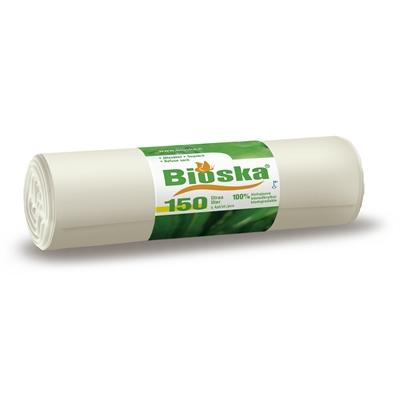 Jätesäkki Bioska 150 l/5 - 100 % biohajoava ja tuulivoimalla tuotettu