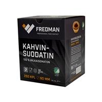 Suodatinpaperi Fredman 90 mm ruskea/250 - kotimainen, Joutsenmerkitty ja biohajoava