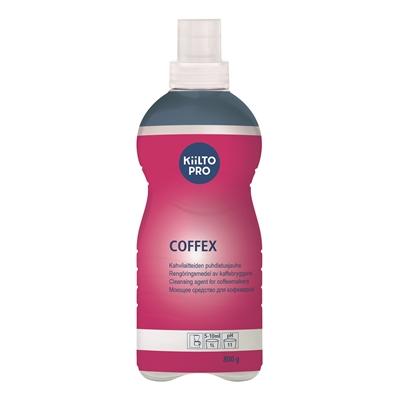Kahvilaitteiden puhdistusaine Kiilto Coffex 800g - hajustamaton, pölyämätön, tehokas, pH n. 11
