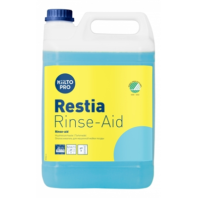 Huuhtelukirkaste Kiilto Pro Restia 5kg - nopeuttaa kuivumista, ei pisarajälkiä, Joutsenmerkki