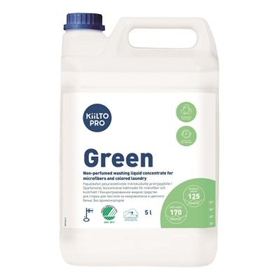 Pyykinpesuneste Kiilto Pro Green Liquid Textile Wash 5 L - hajusteeton ja ympäristöystävällinen