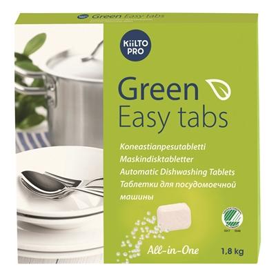 Konetiskitabletti Kiilto Green Easy Tabs/100 - ympäristöystävällinen, pakattu vesiliukoiseen kelmuun
