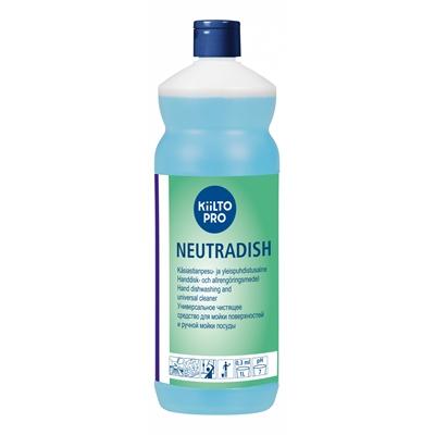 Astianpesuaine Kiilto Pro Neutradish 1L - sopii myös pintojen ja ikkunoiden pesuun, kotimainen