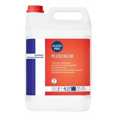 Desinfioiva puhdistusaine Kiilto Pluschlor 5 L - desinfioi, valkaisee, sis. natriumhypokloriittia