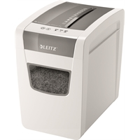 Paperintuhooja Leitz IQ Slim Home Office 4x28mm - tuhoaa myös niitit ja klemmarit
