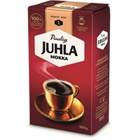Kahvi Juhla Mokka suodatinjauhatus 500 g - vaaleapaahtoinen, keskitäyteläinen, vivahteikas kahvi