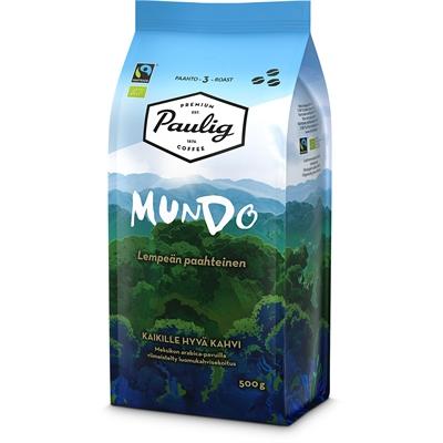 Kahvi Paulig Mundo luomu Reilu kauppa papu 500g