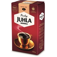 Kahvi Juhla Mokka pannujauhatus 500 g - vaaleapaahtoinen, keskitäyteläinen, vivahteikas kahvi