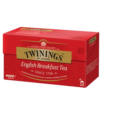 Tee Twinings English Breakfast pussi/25 kpl ltk
