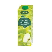 Täysmehu Tropic omena 100% 1 l - ei lisättyä sokeria, eikä lisä- tai säilöntäaineita