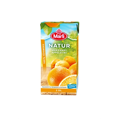 Täysmehu Marli Natur appelsiini 2 dl / 27