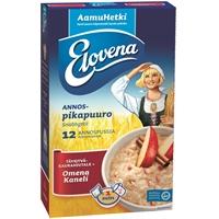 Annospuuro Elovena Omena-Kaneli 35g /12 pss - lisää vain kiehuva vesi, minuutissa valmis!