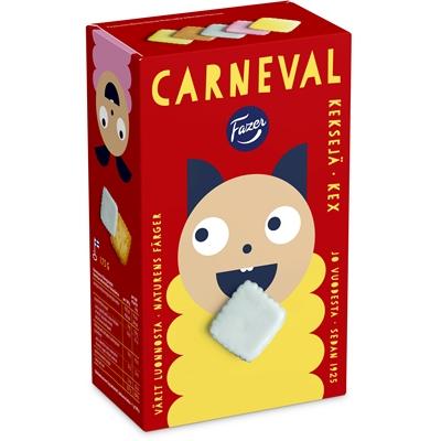 Keksi Fazer Carneval 175 g - lasten suosikki, vähälaktoosinen ja säilöntäaineeton
