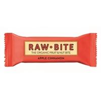 Rawbite Apple Cinnamon luomu 50g /12 kpl ltk - vegaaninen, maidoton, gluteeniton, ei lisätty sokeria