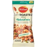 Pähkinä Nutisal Dry Roasted Natural Mix 60g - ei lisättyä suolaa
