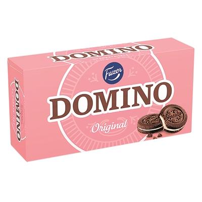 Täytekeksi Fazer Domino Original 350g vähälaktoosinen - klassikko jo yli sukupolvien