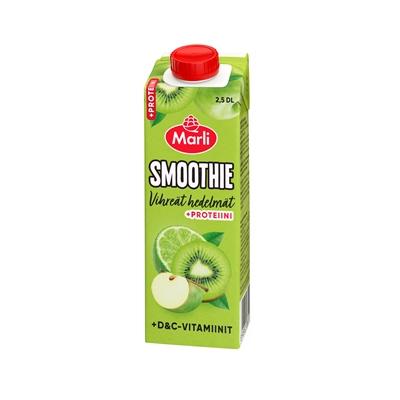 Smoothie Marli vihreät hedelmät D&C-vitamiini ja proteiini 0,25l - ei lisättyä sokeria
