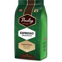 Kahvi Paulig Espresso Originale papu 1 kg - paksu täyteläinen vaahtokerros ja maussa ripaus Robustaa