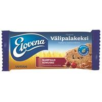 Välipalakeksi Elovena Karpalo-Kinuski 30g /10 kpl pkt - Sydänliiton merkki, runsaskuituinen