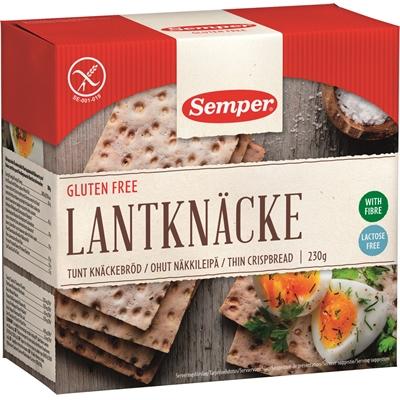 Näkkileipä Semper ohut gluteeniton 230 g - laktoositon ja runsaskuituinen