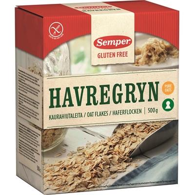 Kaurahiutale Semper gluteeniton 500 g - 100 % puhdasta kauraa, ei muita viljoja