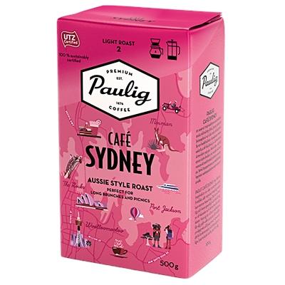 Kahvi Paulig Café Sydney HJ 500 g UTZ-sertifioitu - hedelmäinen, hunajaisen makea, tasapainoinen