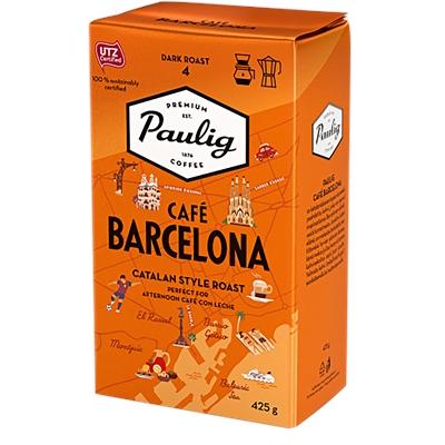 Kahvi Paulig Café Barcelona SJ 425 g UTZ-sertifioitu - katalonialaisen täyteläinen, pähkinäsuklainen