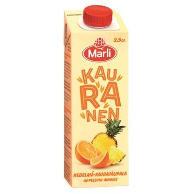 Välipalajuoma Marli Kauranen hedelmä 2,5 dl - maidoton, vegaaninen, säilöntäaineeton, ei lis. sokeri