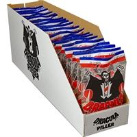 Irtomakeinen Dracula salmiakki 65 g /20 pss ltk - suosittelemme syömään pimeässä ja viitta harteilla