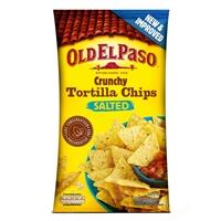 Maissilastu Old El Paso crunchy chips salt 185 g /10 kpl ltk - dippaa salsaan tai nauti sellaisenaan