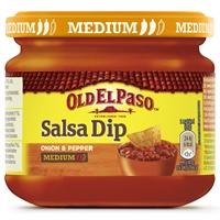 Salsa Dip Old El Paso Onion & Pepper medium 312 g /12 kpl ltk - laktoositon tomaattisalsa