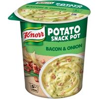 Snack Pot Knorr perunamuusi pekoni 58 g /8 kpl ltk - maukas ateria, lisää vain vesi, valmis 5 min