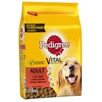 Koiranruoka Pedigree Adult härkä ja siipikarja 2,6 kg /3 kpl ltk - maistuu nirsoimmillekin koirille