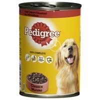 Koiranruoka Pedigree härkä 400 g /12 kpl ltk - 100 % täysipainoinen ateria koiralle