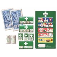 Ensiapukaapin sisältö Cederroth - sisältää kaikki ensiapukaapin perustarvikkeet ja hätäensiapuohjeen