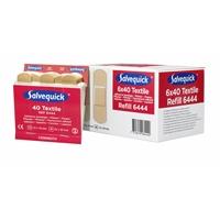 Kangaslaastari Salvequick 6444 6x40 kpl - joustava ja allergiatestattu laastari