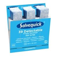 Muovilaastari Salvequick pitkä teippi 6796 sin. 6 x 30 kpl - steriilipakattu laastari elintarvikeala