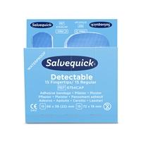 Sormenpäälaastari  6754CAP Salvequick sininen 6x30kpl