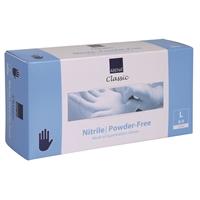 Nitriilikäsine Abena Classic puuteriton sininen L/150 - synteettistä kumia, lateksiton