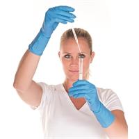 Nitriilikäsine 30cm sininen M - erittäin vahva, kestää kemikaaleja, puuteriton ja allergiavapaa